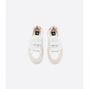 SMALL V-12 VELCRO LEATHER WH/MENT/ROSE