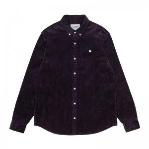 L-S Madison Cord Shirt logo